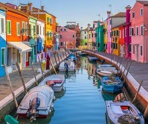 italy, boat, and europe image