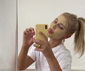 face mask, cute, and honey image