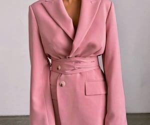 coat, fashion, and pink image