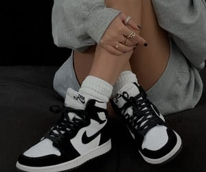 nike, black, and girl image