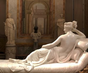 art gallery, statue, and baroque image