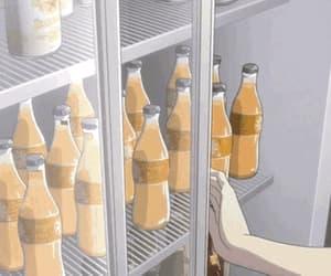 gif, anime, and drinks image