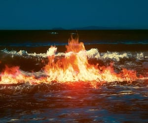 fire, aesthetic, and ocean image
