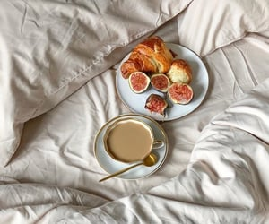 bed, coffe, and breakfast image