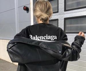 Balenciaga, black, and branded image