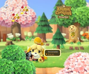 animal crossing, background, and matching image