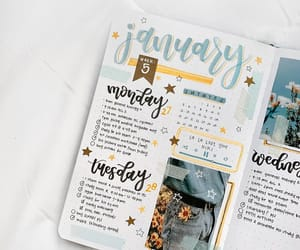 bullet journal, bujo, and weekly spread image