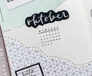 calendar, design, and bullet journal image