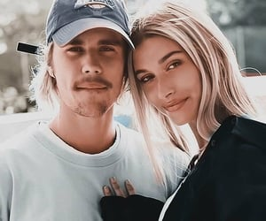 couple, hailey, and justin image