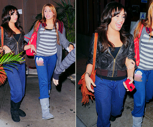 demi lovato, miley cyrus, and demiley image