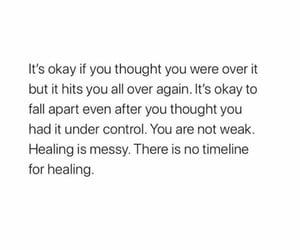 anxiety, fall apart, and healing image