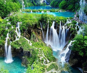 national park, plitvice lakes, and Croatia image
