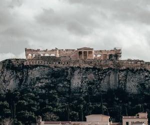 acropolis, art, and Athens image