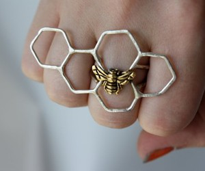 ring, bee, and jewelry image