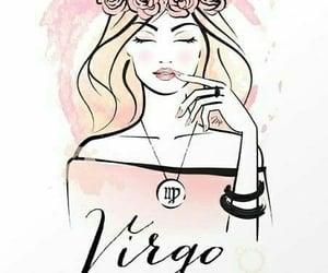 virgo, pink, and zodiac image