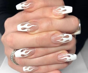 nails, white, and aesthetic image