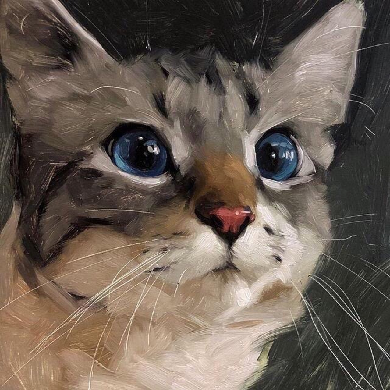 art, kitten, and pet image