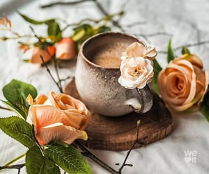 coffee and flower image