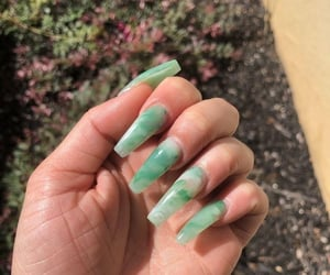 green, nails, and pastel colors image