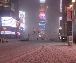 lights, weather, and new york image