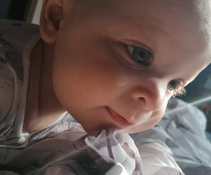 baby, blue eyes, and eyelashes image