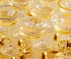 drinks, gold, and golden image