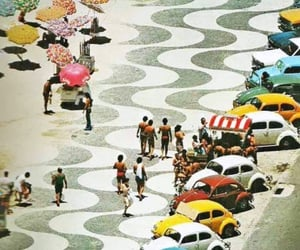 70's, beach, and cars image