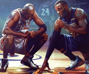 kobe bryant, LeBron James, and legends image