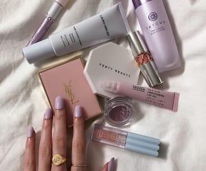 cosmetics, makeup, and purple image