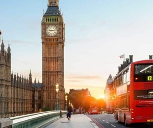 Big Ben, london, and red bus image