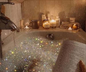 glitter, aesthetic, and bath image