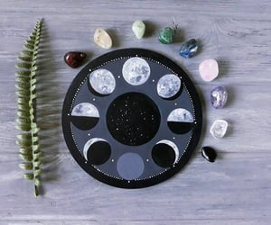 crystals, full moon, and moon phases image
