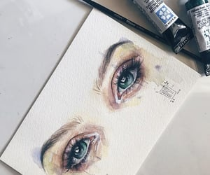 art, emotion, and eyes image