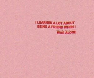 quotes, pink, and alone image