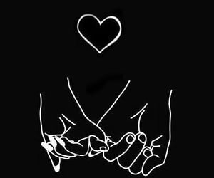 couple, hands, and art image
