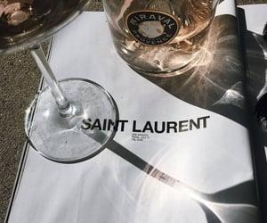 drink, wine, and saint laurent image