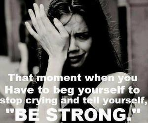 strong, quote, and cry image