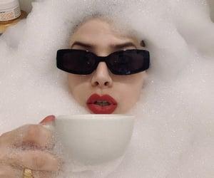 bath, bathroom, and coffee image