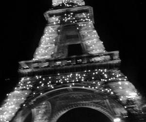 eiffel tower, lights, and paris image