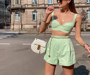 fashionista, mint green, and outfit image