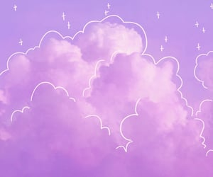 clouds, line art, and pink image