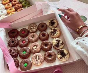 chocolate, dessert, and donuts image