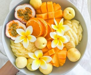 food, fruit, and flowers image