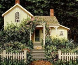 house, cottage, and garden image