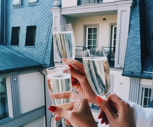 girl, champagne, and nails image