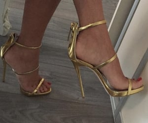 aesthetic, feet, and gold image