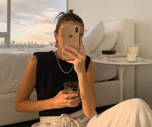 beautiful, girl, and gold image