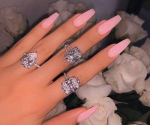 nails, beauty, and diamonds image