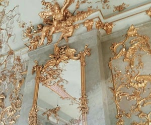 gold, mirror, and aesthetic image