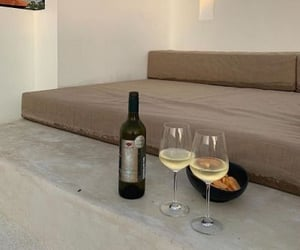 beige, food, and wine image